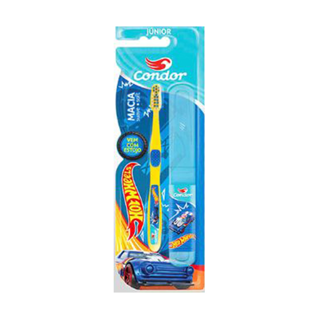 Escova Dental Infantil Condor Hot Wheels Junior | Ref: 3160-0