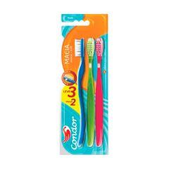 Escova Dental Condor Plus Macia Leve 3 Pague 2 Unidade