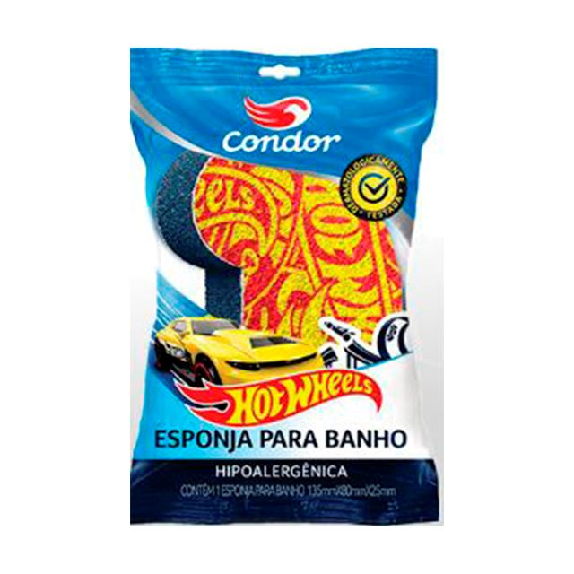 Esponja Para Banho Infantil Condor Hot Wheels   Ref: 8304