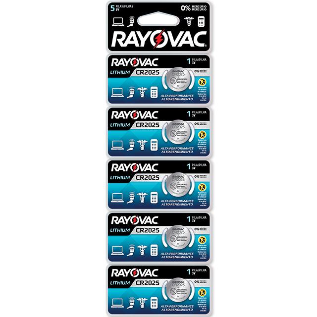Bateria Rayovac Lithium | Ref: Cr2025 | Com 5 Unidades
