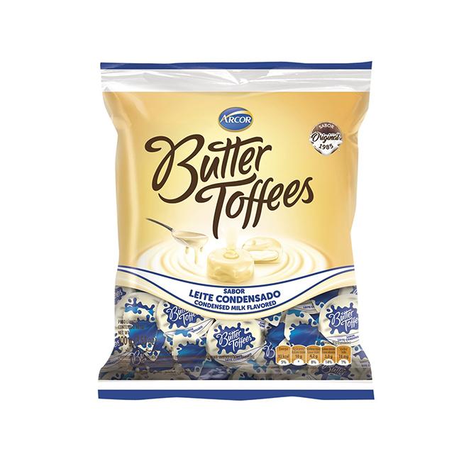 Bala Recheada Arcor Butter Toffees Leite Condensado 100g