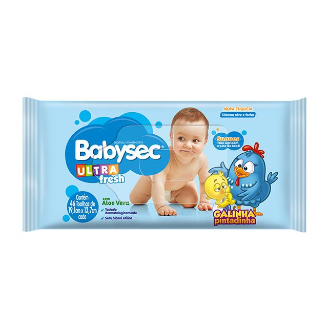 Toalha Umedecida Softys Babysec Ultra Fresh   Com 46 Unidades