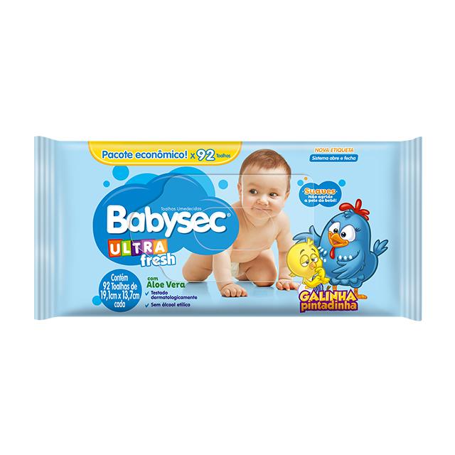 Toalha Umedecida Softys Babysec Ultra Fresh   Com 92 Unidades