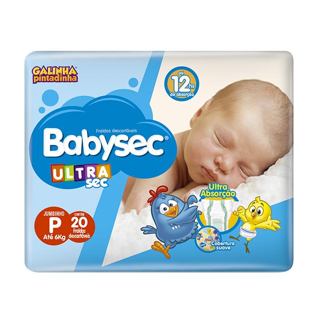 Fralda Softys Babysec Ultra Tamanho P | Com 20 Unidades