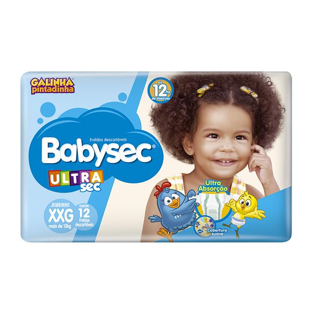 Fralda Softys Babysec Ultra Tamanho XXG   Com 12 Unidades