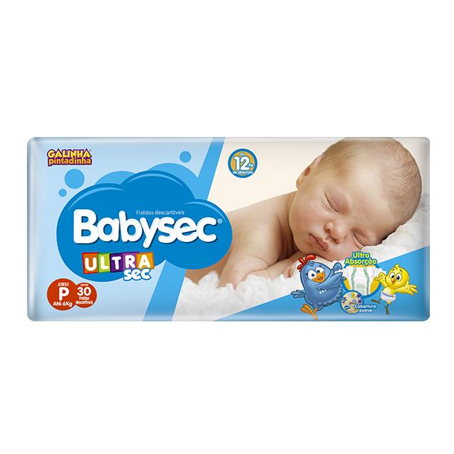 Fralda Softys Babysec Ultra Tamanho P   Com 30 Unidades