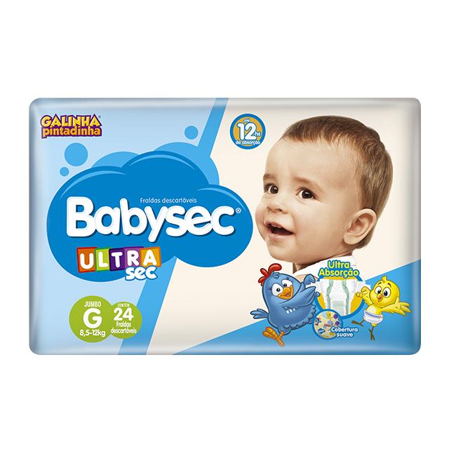 Fralda Softys Babysec Ultra Tamanho G | Com 24 Unidades
