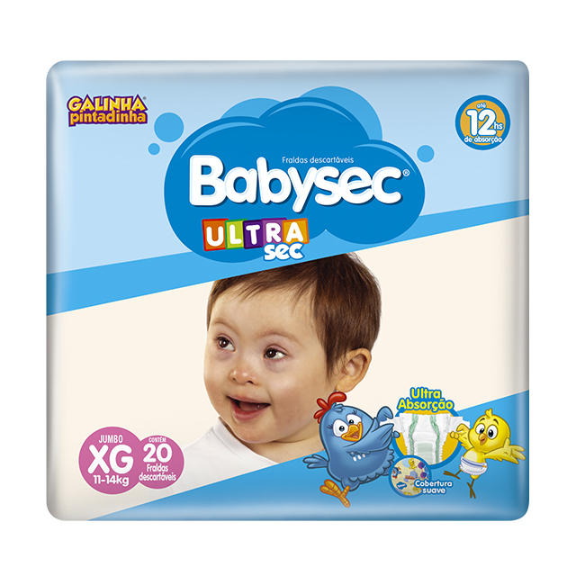 Fralda Softys Babysec Ultra Tamanho XG | Com 20 Unidades