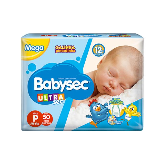 Fralda Softys Babysec Ultra Tamanho P | Com 50 Unidades