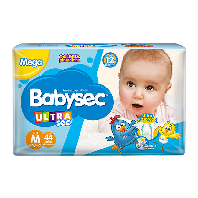 Fralda Softys Babysec Ultra Tamanho M | Com 44 Unidades