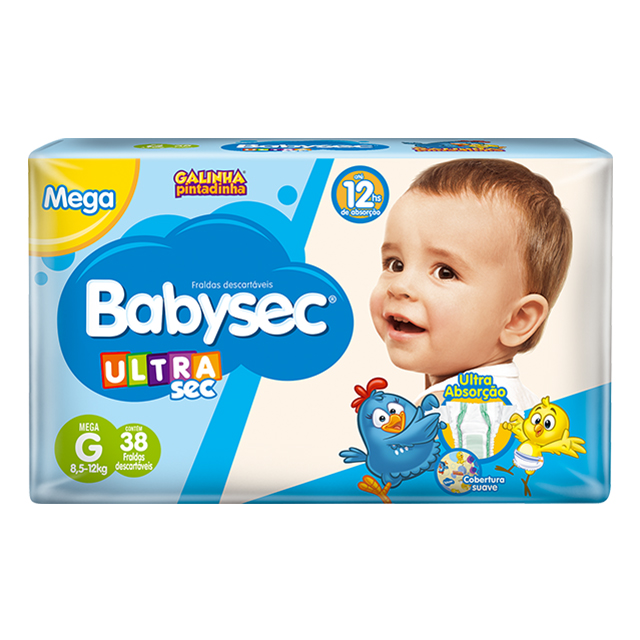 Fralda Softys Babysec Ultra Tamanho G   Com 32 Unidades