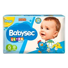 Fralda Softys Babysec Ultra Tamanho G | Com 32 Unidades
