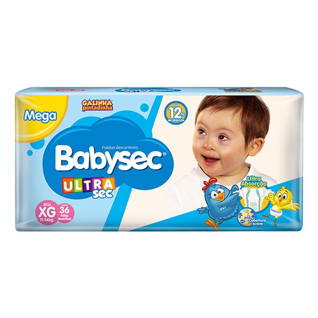 Fralda Softys Babysec Ultra Tamanho XG | Com 36 Unidades