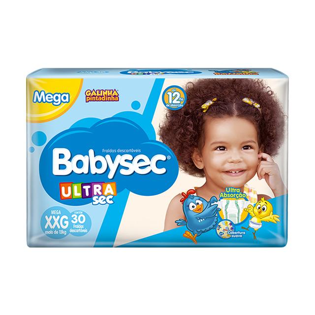 Fralda Softys Babysec Ultra Tamanho XXG | Com 30 Unidades