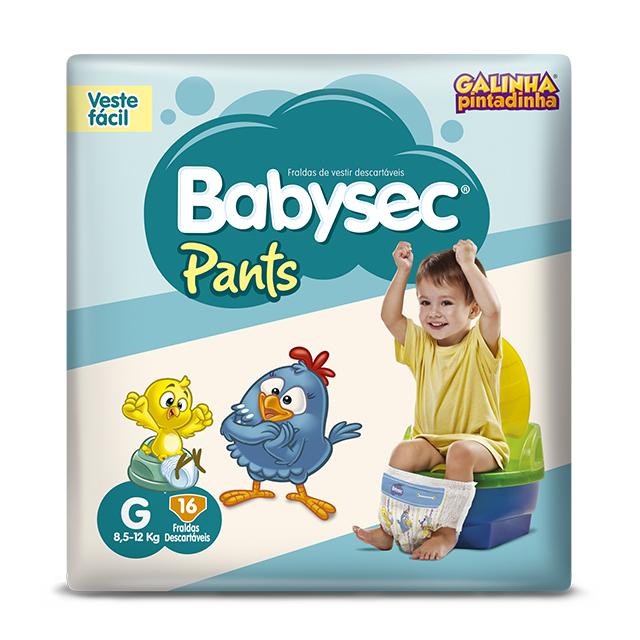 Fralda Softys Babysec Pants Tamanho G   Com 16 Unidades