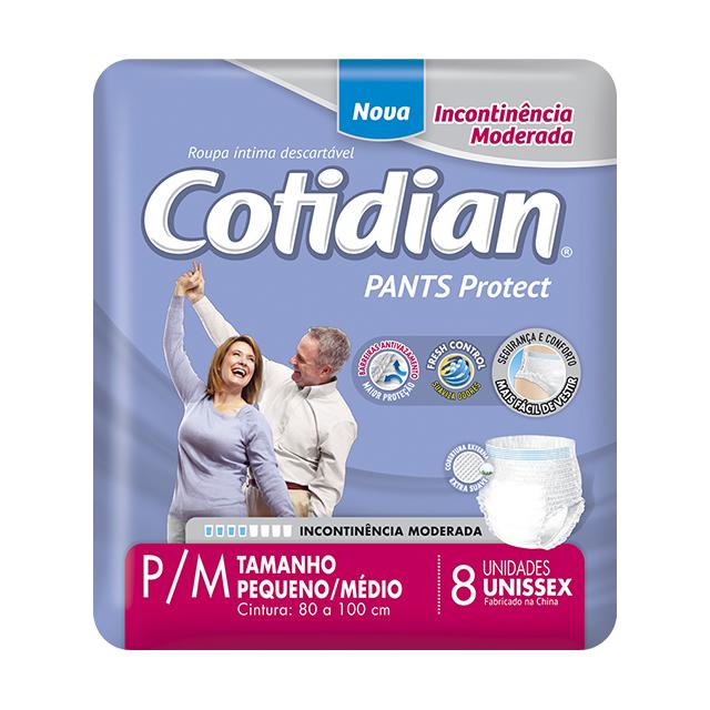 Fralda Geriátrica Softys Cotidian Pants Tamanho P/M   Com 8 Unidades