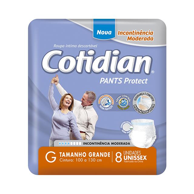 Fralda Geriátrica Softys Cotidian Pants Tamanho G   Com 8 Unidades