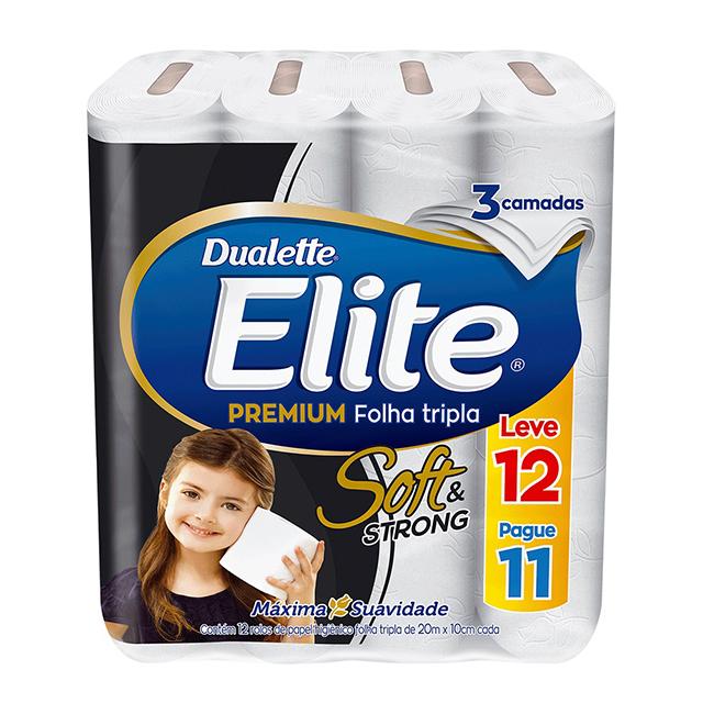 Papel Higiênico Softys Elite Premium Folha Tripla Neutro 20M Leve 12 Pague 11 Unidades