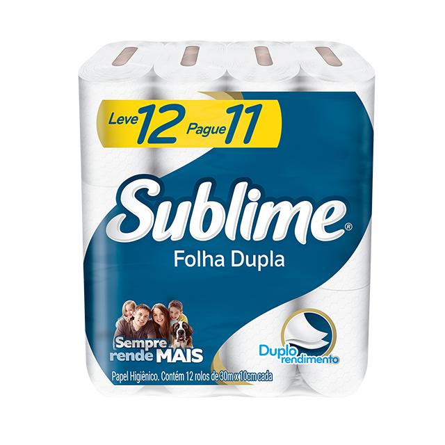 Papel Higiênico Softys Sublime Folha Dupla Neutro 30M Leve 12 Pague 11 Unidades