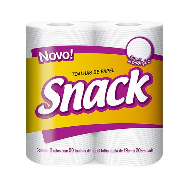 Papel Toalha Snack   Com 2 Unidades Cada Uma Com 50 Folhas