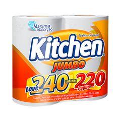 Papel Toalha Kitchen Leve 240 Pague 220 Folhas | Com 2 Unidades