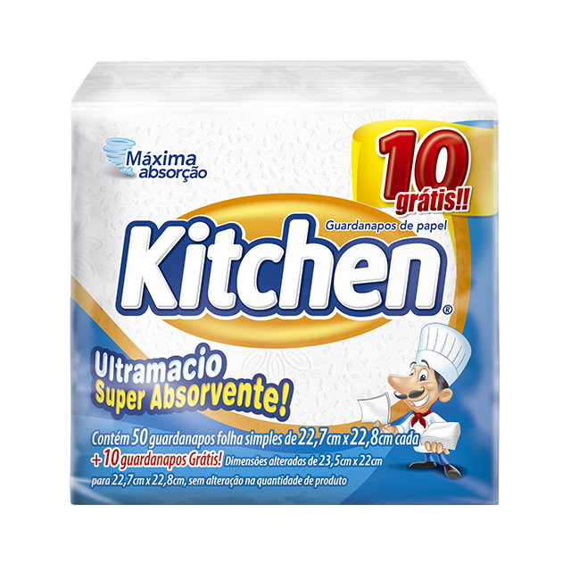Guardanapo Kitchen Pequeno Leve 60 Pague 50 Folhas