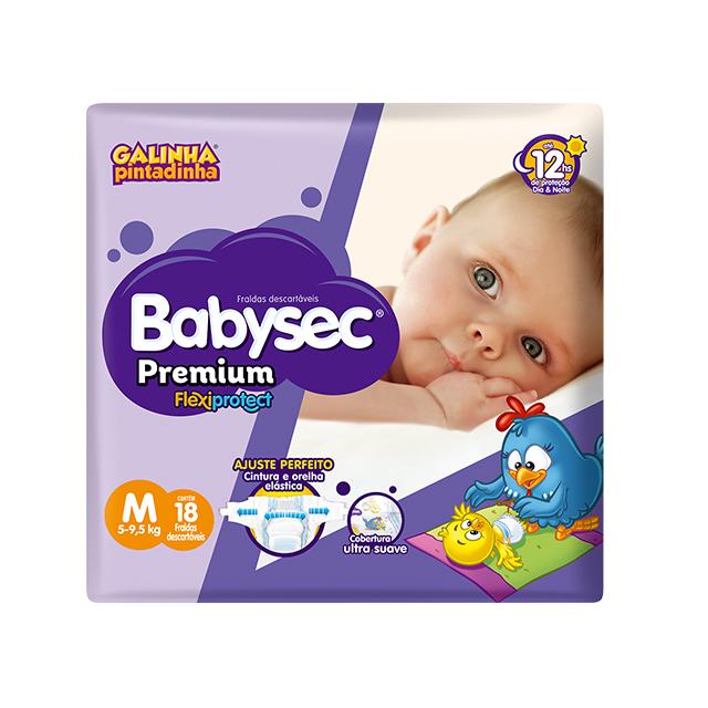 Fralda Softys Babysec Premium Tamanho M | Com 18 Unidades