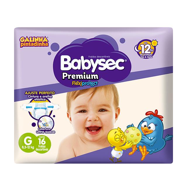 Fralda Softys Babysec Premium Tamanho G   Com 16 Unidades