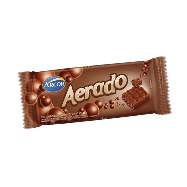CHOCOLATE ARCOR AERADO AO LEITE 30G