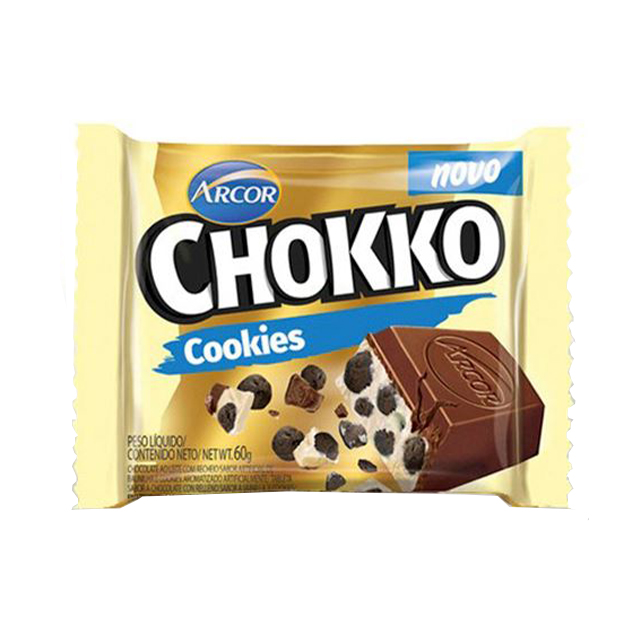 Chocolate em Barra Arcor Chokko Cookies 60g