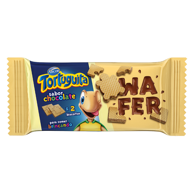 Biscoito Wafer Arcor Tortuguita Chocolate 85g