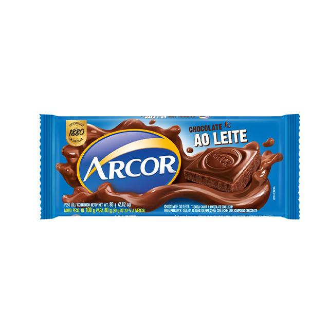 Chocolate Em Barra Arcor Ao Leite 80g