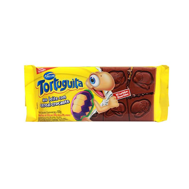 Chocolate em Barra Arcor Tortuguita ao Leite com Cereal Crocante 100g