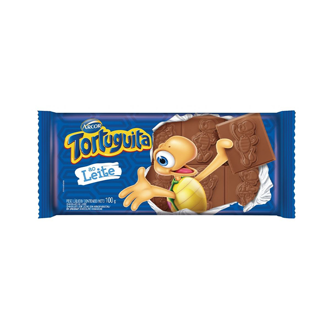 Chocolate em Barra Arcor Tortuguita ao Leite 100g