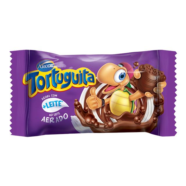 CHOCOLATE ARCOR TORTUGUITA AO LEITE AERADO 14G