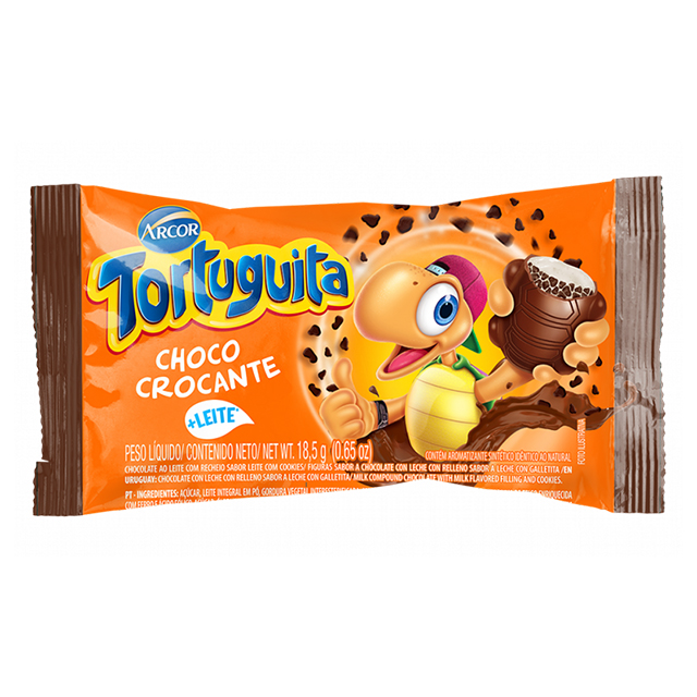 Chocolate Arcor Tortuguita Choco Crocante 18,5g