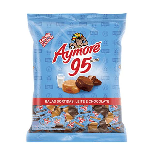 Bala Mastigável Arcor Aymoré Sortidas Leite e Chocolate 600g