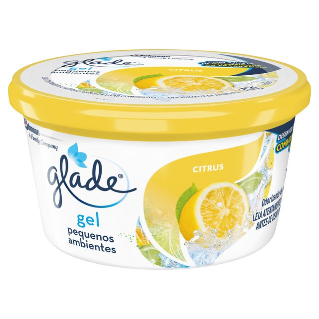 Desodorizador Glade Gel Pequenos Ambientes Citrus 70g