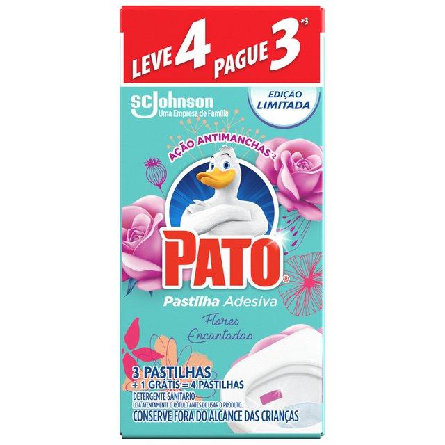 Desodorizador Sanitário PATO Pastilha Adesiva Flores Encantadas Ed. Ltda Leve 4 Pague 3 unidades