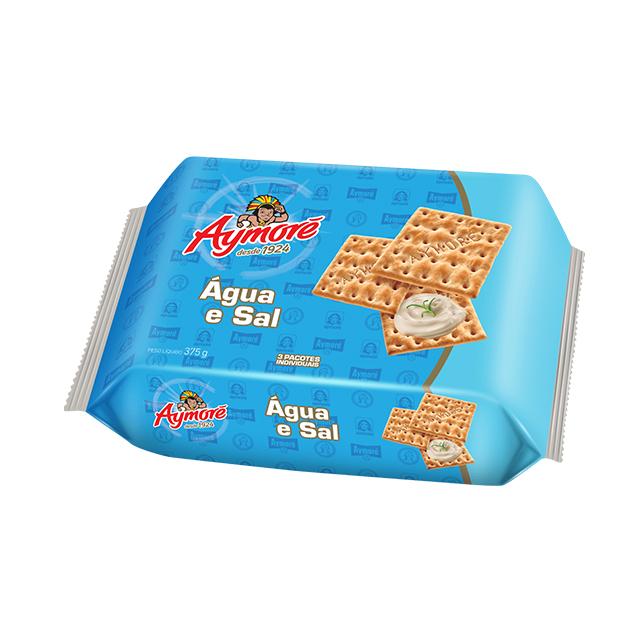 Biscoito Água E Sal Aymoré Multpack 375g