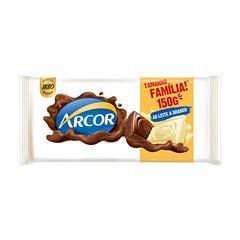 Chocolate Em Barra Arcor Ao Leite + Branco 150g