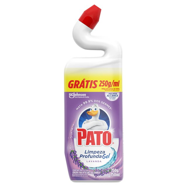 Pato Limpador Sanitário Lavanda Leve 750ml Pague 500ml
