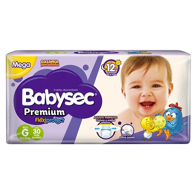 Fralda Softys Babysec Premium Tamanho G   Com 30 Unidades
