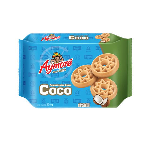 Biscoito Amanteigado Aymoré Coco 330g