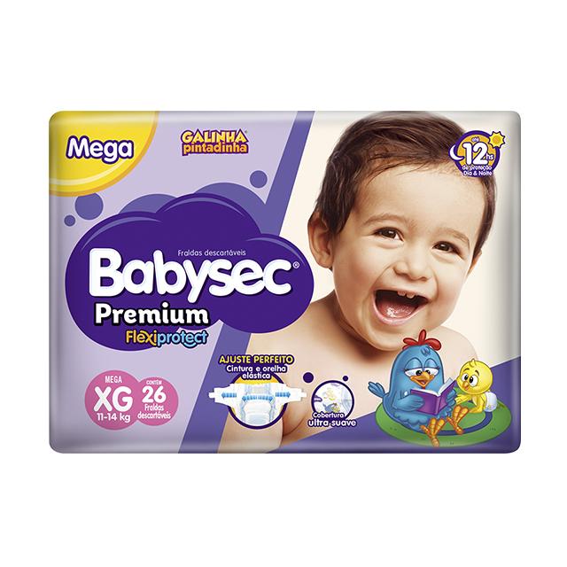 Fralda Softys Babysec Premium Tamanho XG   Com 26 Unidades