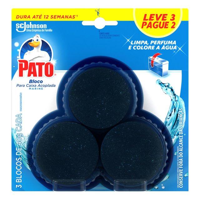 Desodorizador Pato Bloco para Caixa Acoplada Marine Leve 3 Pague 2 unidades 40 g cada