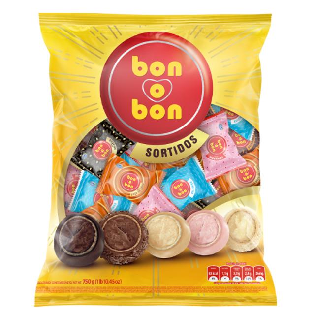 Bombom Arcor Bon O Bon Mix 750g | Com 50 Unidades