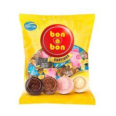 Bombom Arcor Bon O Bon Mix 750g   Com 50 Unidades
