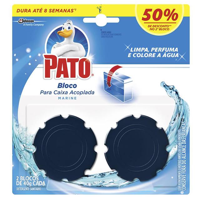 Desodorizador Pato Bloco para Caixa Acoplada Marine 2 unidades 40 g cada