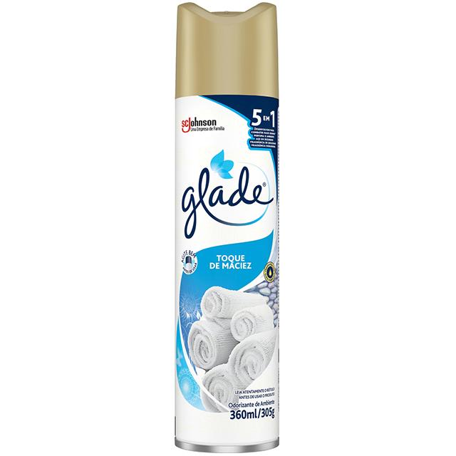 Desodorizador Glade Aerossol Toque de Maciez 360ml